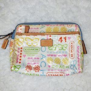 COACH Wristlet Purse Zippered Pouch Bag